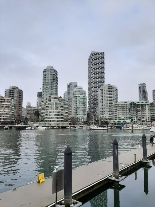 Vancouver Marina in the Snow